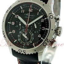 Breguet Transatlantique Type XXII Flyback 10Hz GMT, Black Dial...