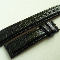 Universal Genève genuine Teju-lizard strap 18/16 mm, black, New