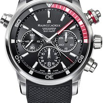 Maurice Lacroix Pontos S Chronograph, Red Details, Rubber/Calf...