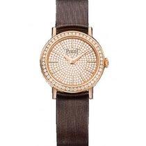 Piaget Altiplano Ladies 24mm Quartz Rose Gold Diamond Bezel