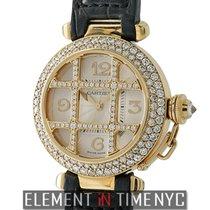 Cartier Pasha Collection 18k Yellow Gold 32mm Diamond Bezel...