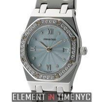 Audemars Piguet Royal Oak Steel 25mm Diamond Bezel Blue...