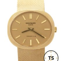 Patek Philippe Ellipse Tiffany & Co. 18K Gold Hobnail...
