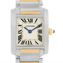 Cartier Tank Francaise Steel Yellow Gold Watch W51007q4 Box...