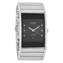 Rado Integral Mens Diamond Platinum Ceramic Swiss Quartz Watch...