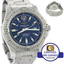 Breitling Colt Steel Blue Stick Date PRO III Band 44mm Auto...