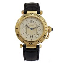 Cartier PASHA 18k Yellow Gold Automatic W3004856