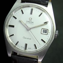 Omega Geneve Automatic Quick Set Date Steel Mens Watch 166.041