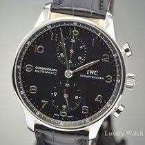 IWC Portuguese Chronograph Automatic Steel Black Dial IW371447