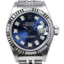 Rolex Women's Datejust Stainless Steel  Custom Blue...