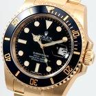 Rolex 18K Yellow Gold Black Luminova Dial 116618 Unworn