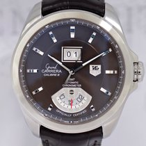 TAG Heuer Grand Carrera Calibre 8 RS GMT braunes Blatt Schoko