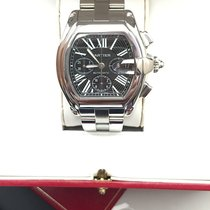 Cartier Roadster Chronograph XL Black Dial Steel  W62020X6...