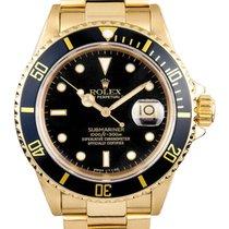 Rolex Submariner Black Dial 18k Yellow Gold 16618