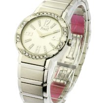 Piaget Polo Lady''s Size with Diamond Bezel in White Gold