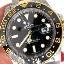 Rolex 116713ln Gmt Master II Steel & Gold Black Dial...
