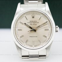 Rolex 14000 Oyster Perpetual Air King SS Silver Stick (26159)