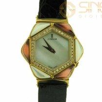 Corum Boucle Or 18kt Gold Vintage MOP Flower Diamonds