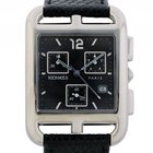 Hermès Cape Cod Chronograph GM Großes Modell Stahl Quarz...