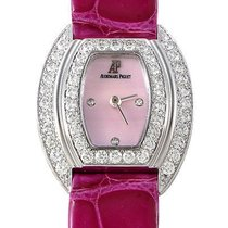 Audemars Piguet Pink Mother of Pearl Diamond Dial 18K White...