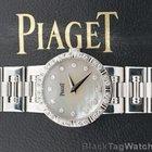 Piaget Dancer Ladies Mini 18k White Gold Diamond Bezel Ladies