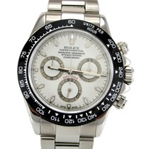 Rolex Daytona Cosmograph 116520 White Dial & Custom Bezel