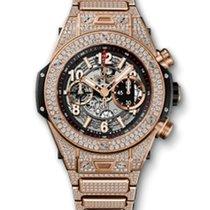 Hublot Big Bang 45mm Unico · King Gold Pave Bracelet 411.OX.11...