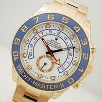 Rolex Yachtmaster 2 116688 Mens 18k Yellow Gold Blue Hands...