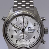 IWC Mens Spitfire Pilots Double Chrongraph Automatic Box/Paper...