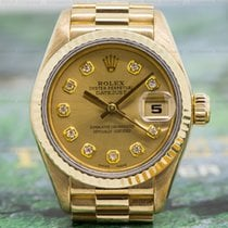Rolex 69178 Ladies Oyster Date President Champagne Diamond...