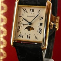 Cartier Tank 18K yellow gold Moon Phase and Date, serviced in...