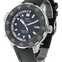 IWC IW354702 Aquatimer Deep Two - Steel on Strap with Black Dial