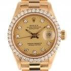 Rolex Datejust Lady Gelbgold Diamond Automatik Präsident...