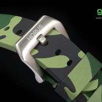 Panerai Horus Green Camouflage Rubber Straps With Brushed...