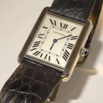 Cartier Steel Tank Solo Mens Quartz Watch - Ref. 3169
