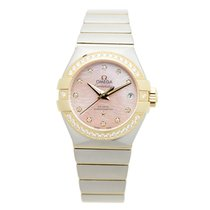 Omega Constellation Gold Steel Diamond Pink Automatic 123.25.2...