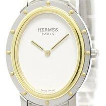 Hermès Polished Hermes Clipper Gold Plated Steel Ladies Quartz...
