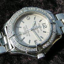 Breitling Colt Oceane Lady A77350 Silver Dial Steel Diamonds...