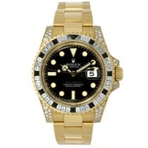 Rolex GMT-MASTER II 18K Yellow Gold with Diamonds
