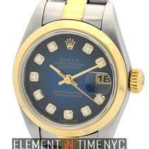 Rolex Datejust 26mm 2Tone Blue Vignette Diamond Dial Circa...