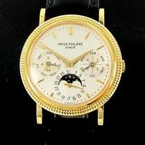 Patek Philippe Yellow Gold Perpetual Calendar Hobnail 5039J