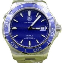 TAG Heuer Aquaracer Calibre 5 WAK2111.BA0830 41mm Blue Index...