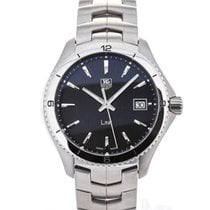 TAG Heuer Link Quartz Stainless Steel Black Dial Guilloche