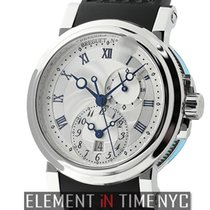 Breguet Marine Dual Time Stainless Steel 42mm Silver Dial Ref....
