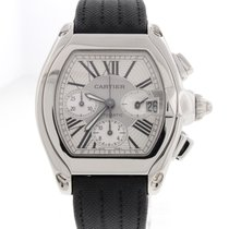 Cartier Roadster Chronograph XL Steel Automatic Mens Watch...