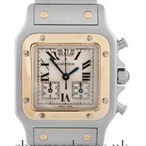 Cartier Santos Galbee Chronograph Steel & 18ct Yellow Gold