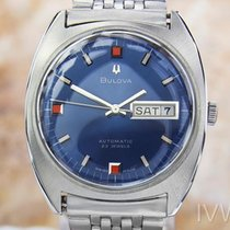 Bulova Vintage Rare Stainless Steel Swiss Automatic Mens Watch...