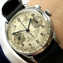 Lemania Rare Lemania 37mm  One Pusher Button Chronograph...