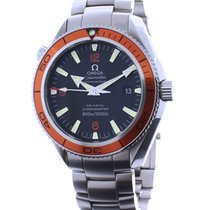 Omega Seamaster Planet Ocean Steel Automatic Mens Watch Box/Book