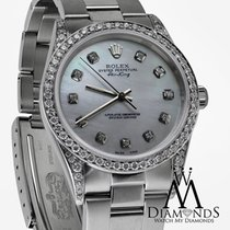 Rolex Air-king Stainless Steel Watch White Mop Diamond...